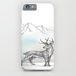 The Stag at the foot of the mountain iPhone Case