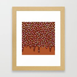Dripping Melted chocolate Glaze with sprinkles Framed Art Print