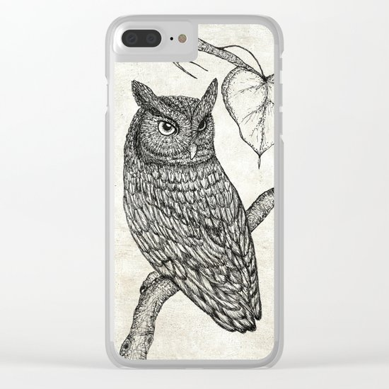 Great Horned Owl Clear iPhone Case