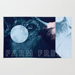 Pig Graphics Farm Fresh Rug