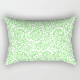 Paisley (Light Green & White Pattern) Rectangular Pillow