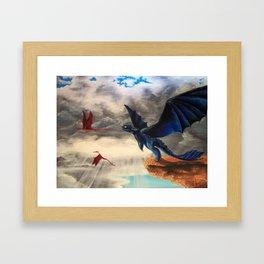 Toothless, Dragons, Flying Framed Art Print