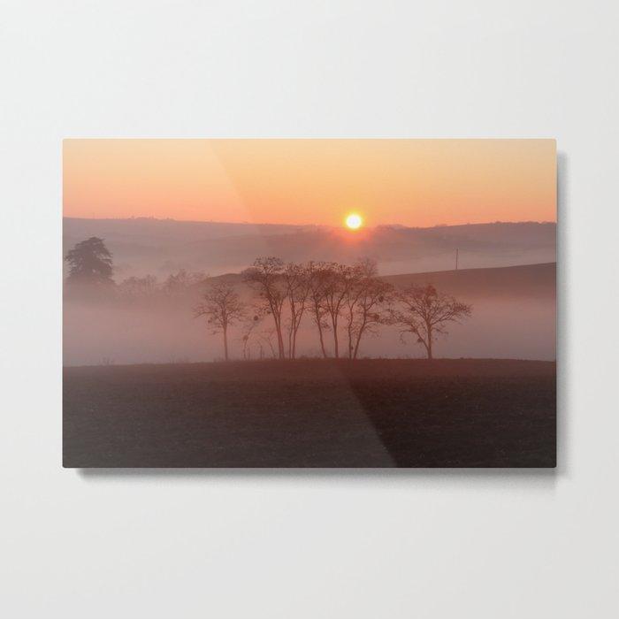 Winter sunset. Metal Print