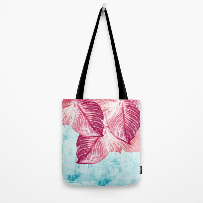 Tropical Canna Leaves  Tote Bag