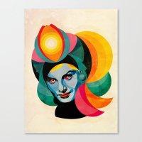 goddess Canvas Prints featuring Goddess by Alvaro Tapia Hidalgo