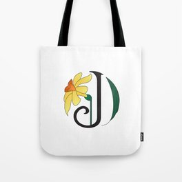 Ruby's Flower Initials - J Tote Bag