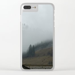 Swiss Fog Clear iPhone Case