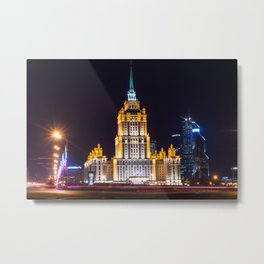 Seven Sisters Hotel Moscou Metal Print