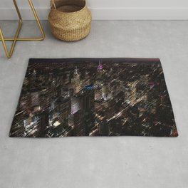Midtown Manhattan Night Scene Skyline Landscape by Jeanpaul Ferro Rug