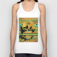 simba Tank Tops featuring Timon, Pumbaa & Simba. by Sara Eshak
