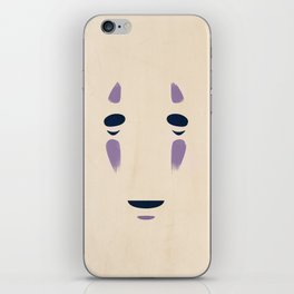 Spirited Away - No Face Minimalist, Miyazaki, Studio Ghibli iPhone Skin