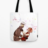 kakashi Tote Bags featuring Fleeting Beauty by Pamianime