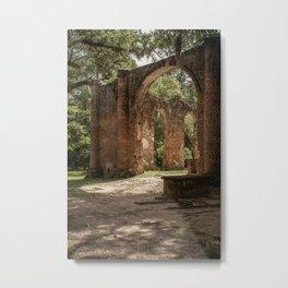 Old Sheldon Church Ruins   Yemassee, SC Metal Print