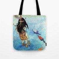 safari Tote Bags featuring Safari by Zoï-Zoï