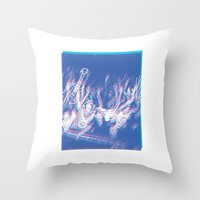 concert Throw Pillows featuring CONCERT by TOO MANY GRAPHIX