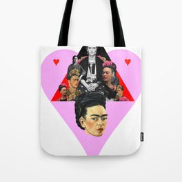 FRIDA KAHLO HEART Tote Bag