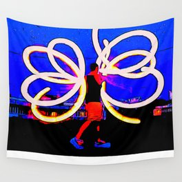 Poi Flowers Wall Tapestry