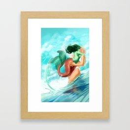 Shore Kiss Framed Art Print