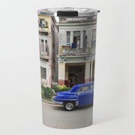 Havana Cuba Cuban Vintage Car Architecture Vedado Urban Street Photography Travel Mug