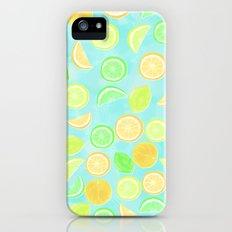 Citrus Jumble (Aqua) Slim Case iPhone (5, 5s)