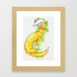 Fox Chasing Rabbit Framed Art Print