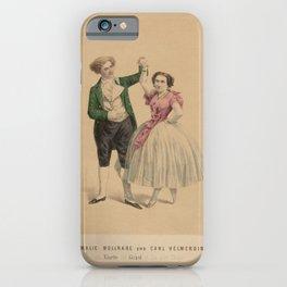 Gunther Leopold  Amalie Wollrabe und Carl Helmerding als Ninette und Girard in Ein alter Tanzer iPhone Case