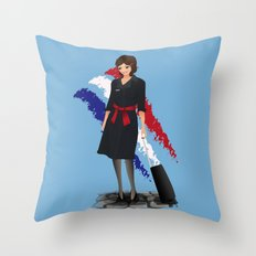 Come fly with me, let's fly, let's fly away - France Throw Pillow