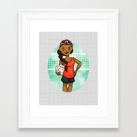volleyball Framed Art Prints featuring Volleyball Girl by Everybody Illustrated