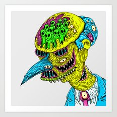 Monster Burns Art Print