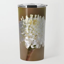 Desert White Wildflower Bloom by Reay of Light Photography Travel Mug