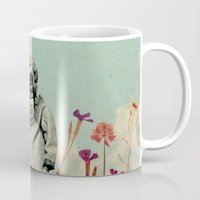 diver Mugs featuring Lonely Diver by Fajar P. Domingo