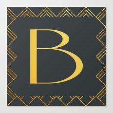 Art Deco Monogram - B Canvas Print