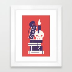 Books! Framed Art Print