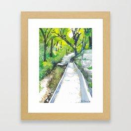 Austin Hike & Bike Trail Framed Art Print