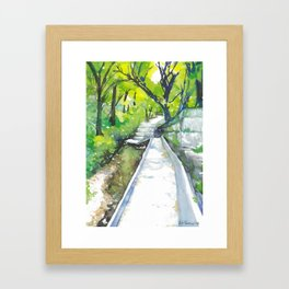 Austin Hike & Bike Trail Framed Art Print