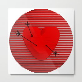 Abstract composition of a heart-shaped target. Metal Print