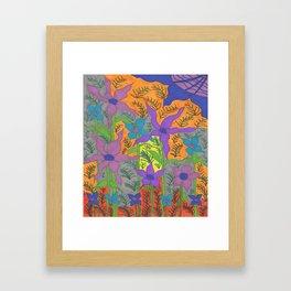 Violets in the Sky Boho Floral Framed Art Print