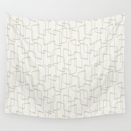 Beige / Light Warm Gray Retro Geometric Print Wall Tapestry