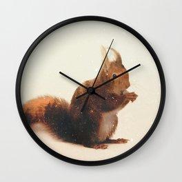 Veluwe: Squirrel Wall Clock
