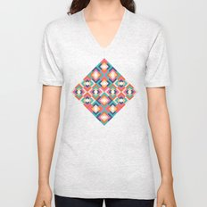 Colorful Geometric Unisex V-Neck