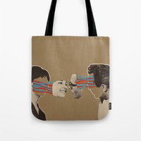 kiss Tote Bags featuring Kiss by Canson City