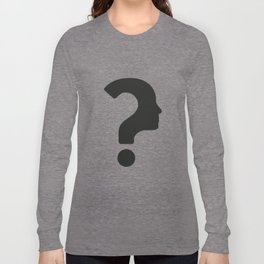 Human Face With Question Mark Long Sleeve T-shirt
