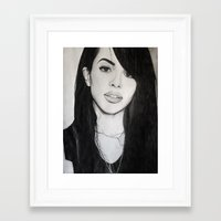 aaliyah Framed Art Prints featuring AALIYAH by alittleart
