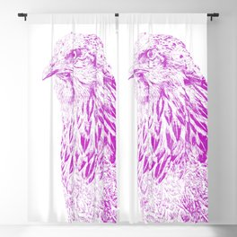 she's a beauty drawing, purple Blackout Curtain