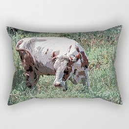 Cow on a summer meadow Rectangular Pillow