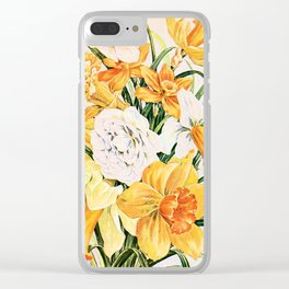 Wordsworth  and daffodils. Clear iPhone Case