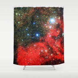 Gold Dusted Galaxy Shower Curtain