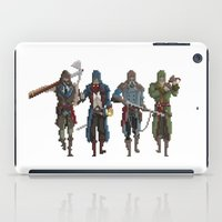 assassins creed iPad Cases featuring Pixel Assassins by LPDuarte