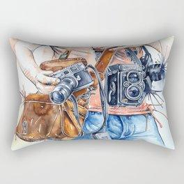 The Photographer Rectangular Pillow