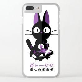 Haunted cat Clear iPhone Case
